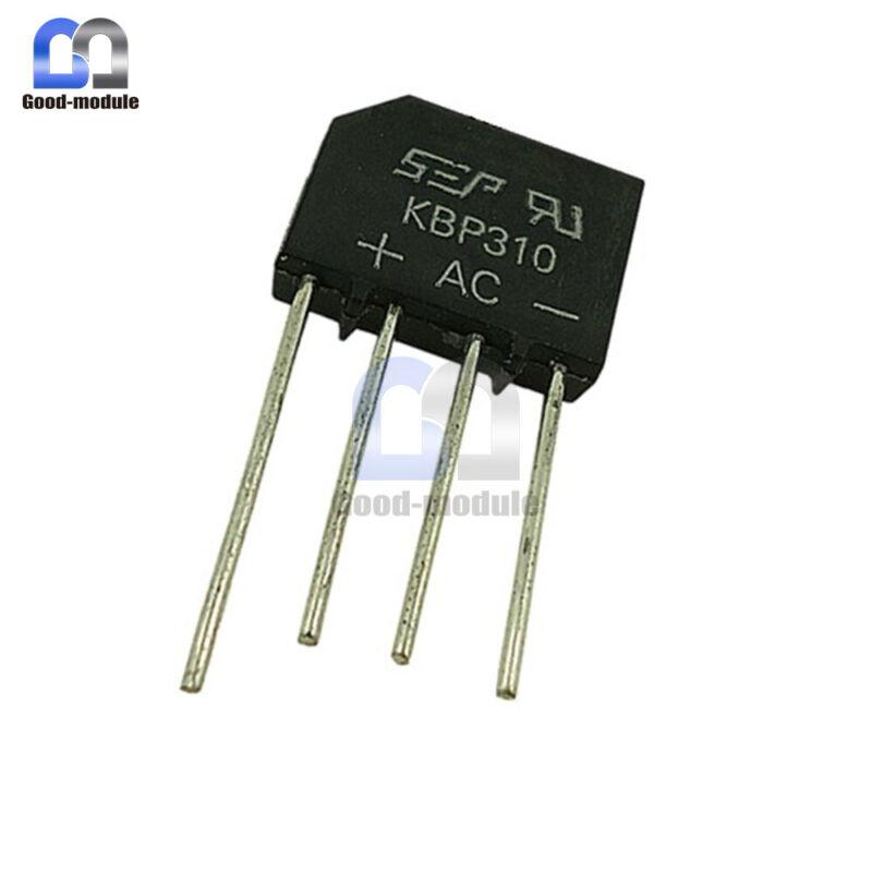 5PCS KBP310 SIP-4 3 Amp Bridge Rectifier 50V to 1000V Replace RS310 NEW GM