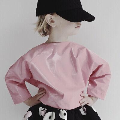CAROLINE BOSMANS Glossy Pink Cropped Top NWT $112.00 Size 6