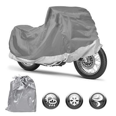 All Weather Motorcycle Cover Motor Bike Outdoor & Indoor Waterproof (M) Snug -