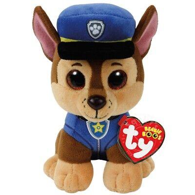 "TY Beanie Baby 6"" Paw Patrol CHASE German Shepherd Plush Stuffed Animal MWMT's"