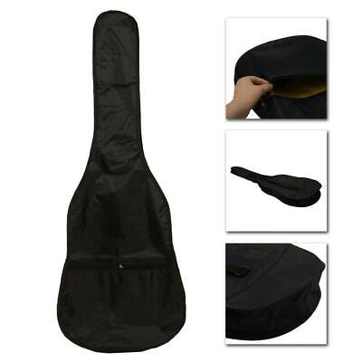 New Professional Soft Acoustic Guitar Bag 38 Inch Nylon Black with Strap