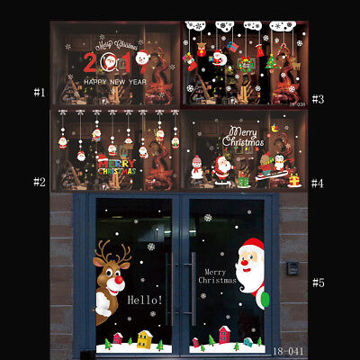 Holiday Decoration Stores (Christmas Holiday Decoration Sticker Wallpaper for Glass Door Store Window)