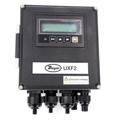 Dwyer Instruments Uxf2-21p1 Ultrasonic Flow Meter Flowmeter 4-20 Ma 200-240vac