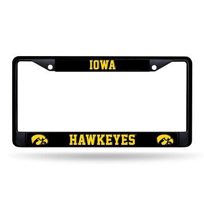 Iowa Hawkeyes Black Metal License Plate Frame Iowa Hawkeyes Plate