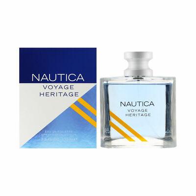 Nautica Voyage Heritage Cologne for Men 3.4 oz Eau de Toilette Spray Brand New
