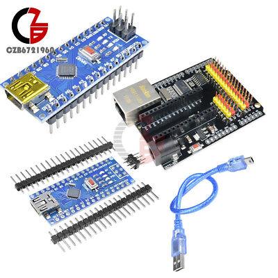 Enc28j60 Ethernet Shield V2.0 Network Atmega328 Ch340g Cable F Arduino Nano V3.0