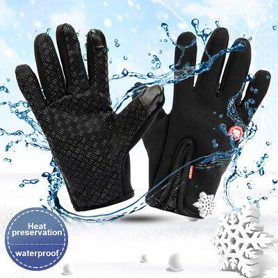 (Men Women Winter Waterproof Insulated Gloves Outdoor Warm Thermal Sport Mittens)