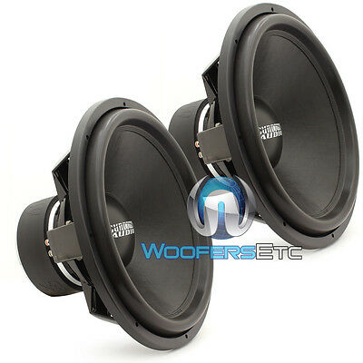 "(2) SUNDOWN AUDIO SA-18 REV3 D2 18"" 1500W RMS DVC 2-OHM SUBWOOFERS BASS SPEAKERS"
