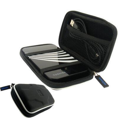 Black Hard Case Cover for Toshiba STOR.E Portable External Hard Drive
