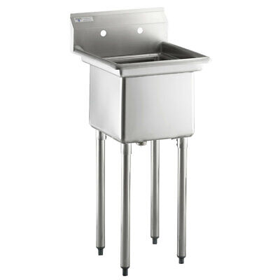 Steelton 20 12 18-gauge Stainless Steel One Compartment Commercial Sink