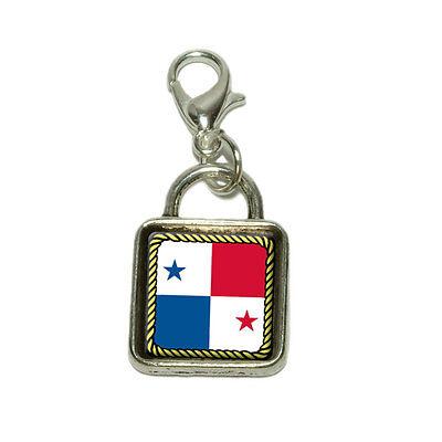 (Flag of Panama Dangling Bracelet Pendant Square Charm)