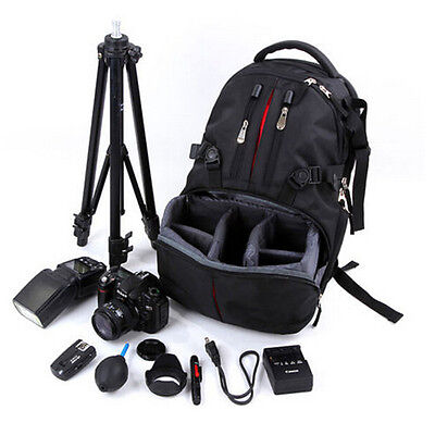 Waterproof DSLR Camera Backpack Padded Case Bag For Canon Nikon Sony with Cover