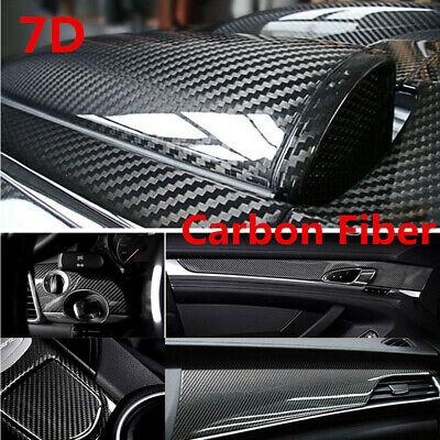 Carbon Fiber Sticker Glossy Car Wrap Sheet Roll Film Stickers Decals Accessories ()