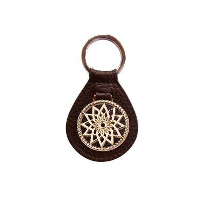 Traumfänger-schlüsselanhänger (Traumfänger Schlüsselanhänger Braun Stern Rosé-Gold)