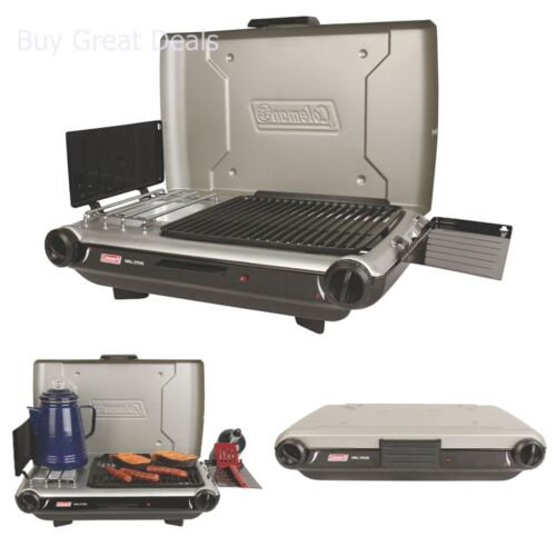 Coleman Camp Propane Stove, Portable 2-in-1 Design Flow Technology Camping Stove