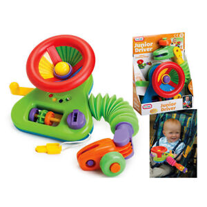 JUNIOR DRIVER CAR Steering Wheel Activity Toy For Buggy Stroller Baby Car Seat
