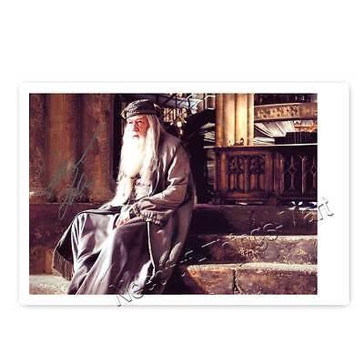 Michael Gambon als Prof. Dumbledore aus Harry Potter -  Autogrammfoto [A01] 