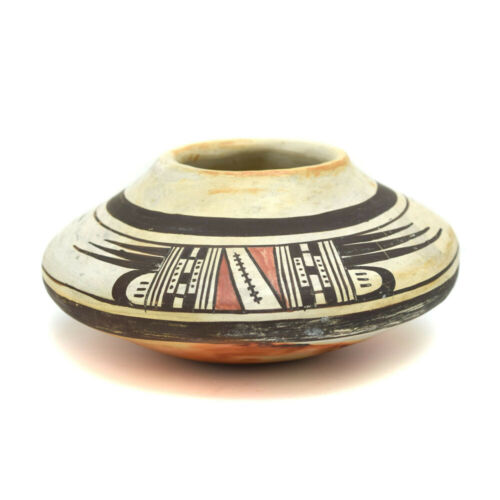 """Old Lady Nampeyo of Hano - c. 1900s Hopi Polychrome Jar, 3"""" x 6"""" SOLD AS IS"""