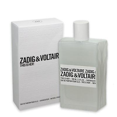 3 Oz Eau De Parfum (Zadig & Voltaire This Is Her Eau De Parfum For Women 100ml 3.3 fl oz)