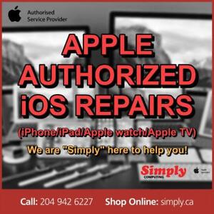 APPLE AUTHORIZED REPAIRS (iPhone/iPad/Apple Watch/Apple TV/Macs)