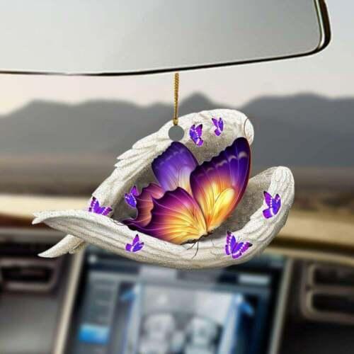 Butterfly sleeping angel butterfly lovers ornament