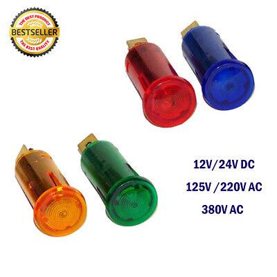 12.5mm Led Indicator Dashboard Panel Warning Light Lamp 12v-380v Ac Dc