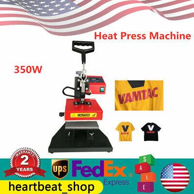 Heat Press Machine 5 In 1 Digital Sublimation Transfer T-shirt Printer 15x15cm