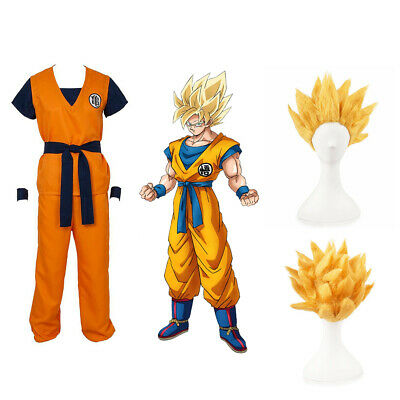 Dragon Ball Z Super Saiyan Goku Son Gokou For Cosplay Costume Halloween Party