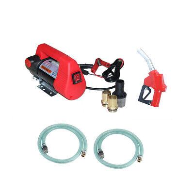 Electric Fuel Transfer Pump Diesel Kerosene Oil Commercial Portable 12v Dc 155w