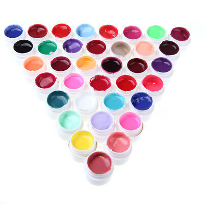 Anself 36X Nail Art UV Gel Set Farbgel Effekt-Gele Nagel Design Fingernägel Q2Q5
