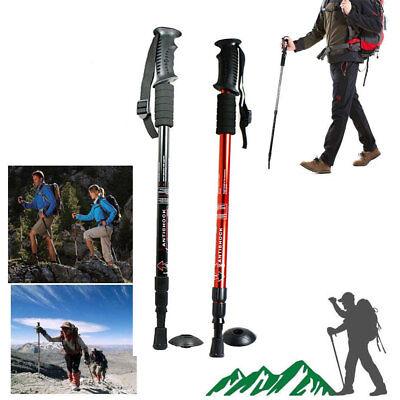 Anti-shock Walking Hiking Stick 3 Section Adjustable Retractable Trekking Pole  ()