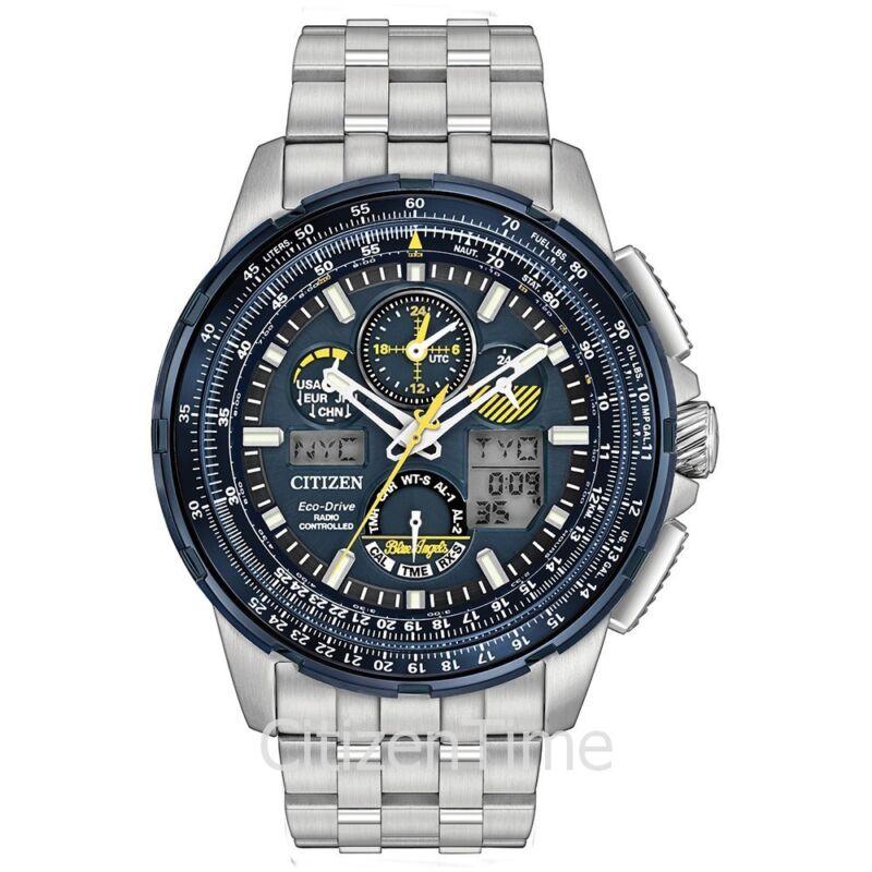-NEW- Citizen Blue Angels Skyhawk A-T Eco-Drive Watch JY8058-50L