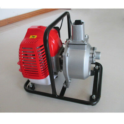 New 43cc Gas Powered Water Transfer Pump Garden Farm Irrigation Petrol Pump 2 Hp
