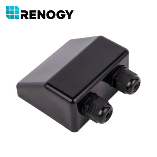 Renogy Solar Panel Dual Cable Entry Gland Housing Rv Caravan Boat Abs Waterproof