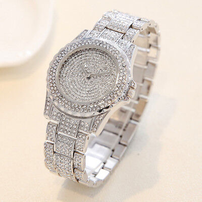 Luxury Lady Women Watches Rhinestone Ceramic Crystal Quartz Wrist Watch Pottery