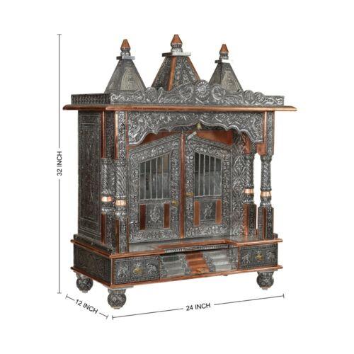 Oxidized Temple Handmade Temple Office Temple Worship Mandap Handcrafted Mandir