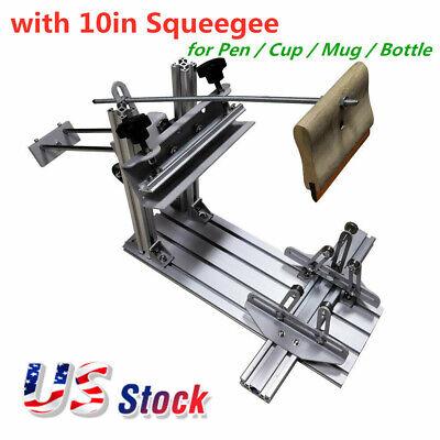 Manual Cylinder Screen Printing Press Machine For Pen Mug Bottle