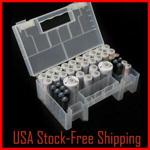 Plastic Battery Case Storage Box Holder Container Organizer For AA AAA C Battery