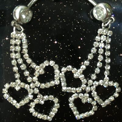 Long Beautiful Shine Navel Sexy Button Rhinestone Belly Ring Very Three Claw (Sexy Navel Ringe)