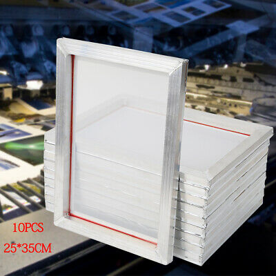 10 Pack Aluminum Screen Printing Screens 2535 Cm Frame-110 White Mesh