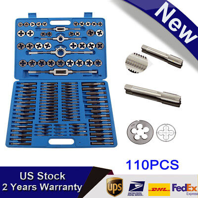 110x Tap And Die Combination Set Tungsten Steel Titanium Metric Tools Usa