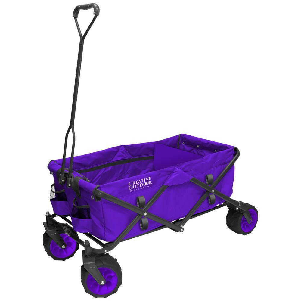 Creative Outdoor All-Terrain Folding Wagon - Purple