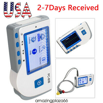 Pc-80b Easy Handheld Color Screen Ecg Ekg Portable Heart Monitor Clinichome Use