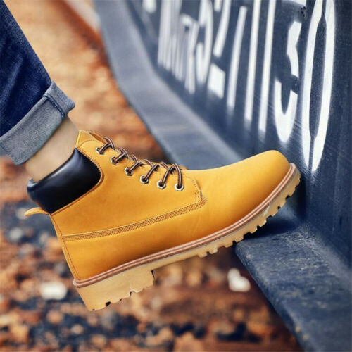 Men's Winter Shoes Waterproof Leather Outdoor Martin Boots Ankle