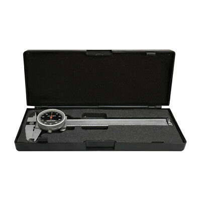0-4 Stainless Steel 4 Way Dial Caliper Black Face Shock Proof 0.001 Graduation