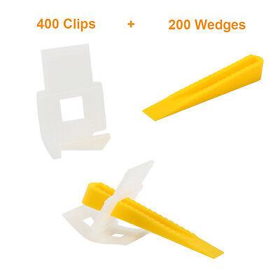 600 Tile Leveling System-400 Clips +200 Wedges -Tile Leveler Spacers Lippage NEW