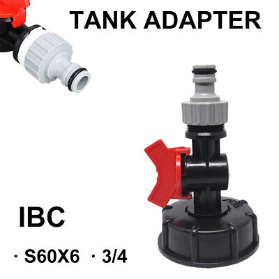 IBC S60X6 Water Tank Outlet Fitting/Connector/Adapter 3/4 Garden Hose Water Butt for sale  United Kingdom