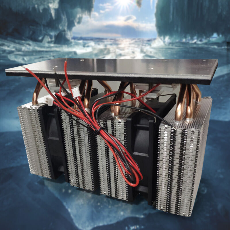 12V 3-Chip Electronic Semiconductor Cooler Refrigerator Surface Cooling Radiator