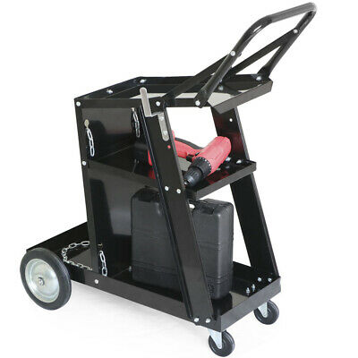 Welding Cart Workshop Equipment Trolley Tank Storage For Mig Tig Plasma Welder