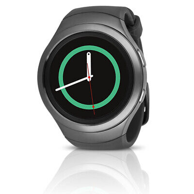 Samsung Gear S2 w/ Dark Gray Case & Black Urethane Band